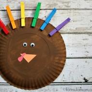 Rainbow Paper Plate Turkey Craft