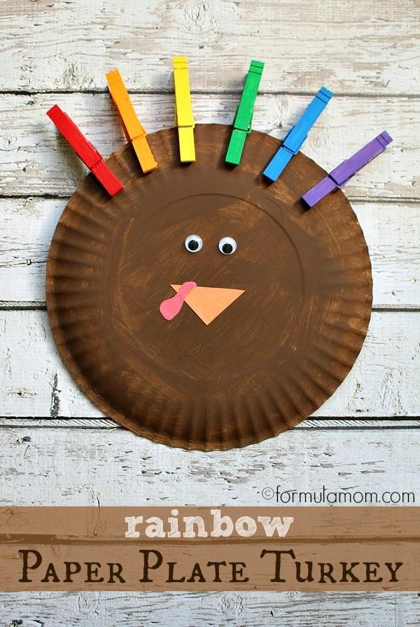 Colors Of The Rainbow Turkey Craft
