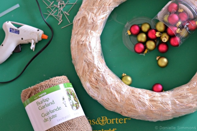 burlap christmas wreath materials