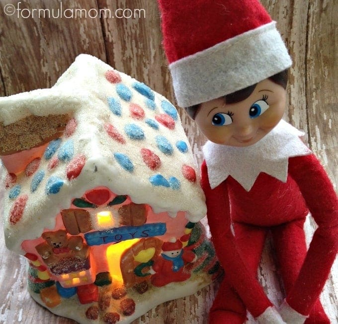 Elf on the Shelf Ideas: Delivery Man #ElfOnTheShelf
