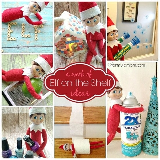 Week of Elf on the Shelf ideas #ElfOnTheShelf