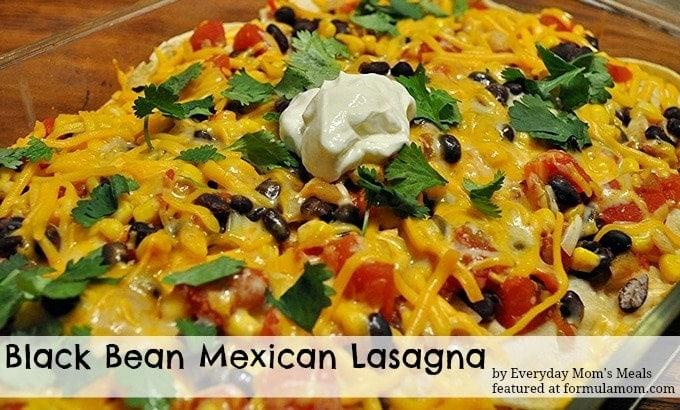 Black Bean Mexican Lasagna