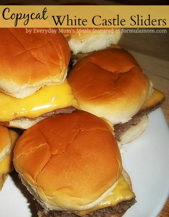 Copycat white castle sliders the simple parent for White castle double fish slider with cheese