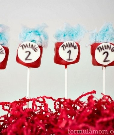 Cat in the Hat Marshmallow Pops: Thing 1 & Thing 2 #drseuss