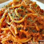 Crock pot Spaghetti Recipe