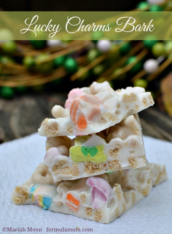 Lucky Charms Candy Bark Recipe #stpatricksday