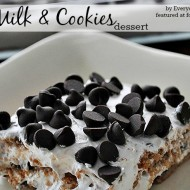 No Bake Dessert Recipe: Milk & Cookies