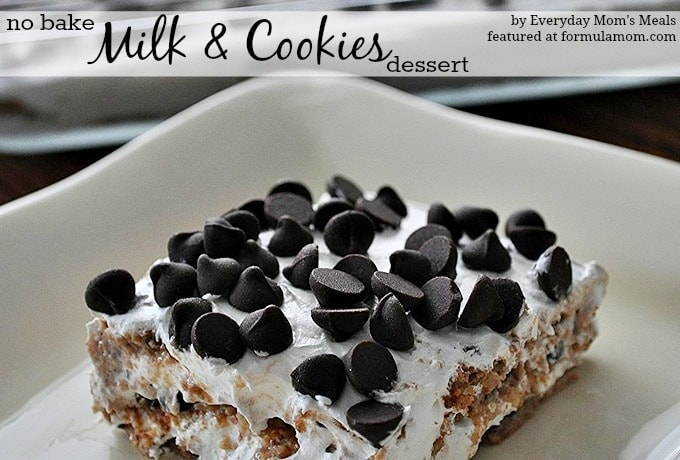 No Bake Dessert Recipe: Cookies & Milk