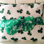 Dollar Tree DIY: St Patricks Day Shamrock Pillow