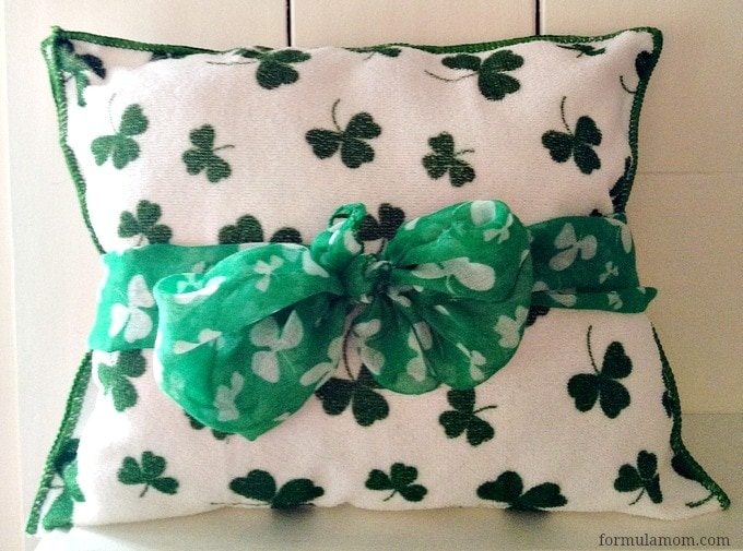 No Sew St. Patrick's Day Pillow #stpatricksday