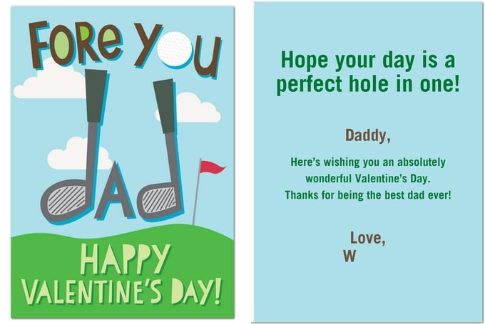 Valentine Card For Dad From Daughter Valentine Day – Valentine Cards for Dad
