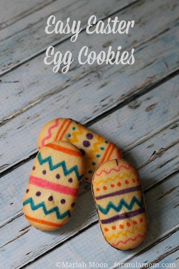 Easy Easter Egg Cookies #easter