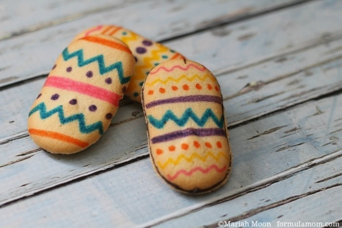 Easy Easter Egg Cookies with Milano Cookies #easter