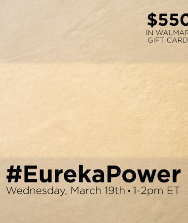 #EurekaPower Twitter Party 3/19 #cbias #shop