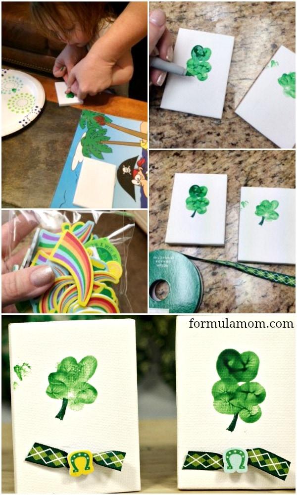 How to Make Thumbprint Shamrocks for St. Patrick's Day #stpatricksday