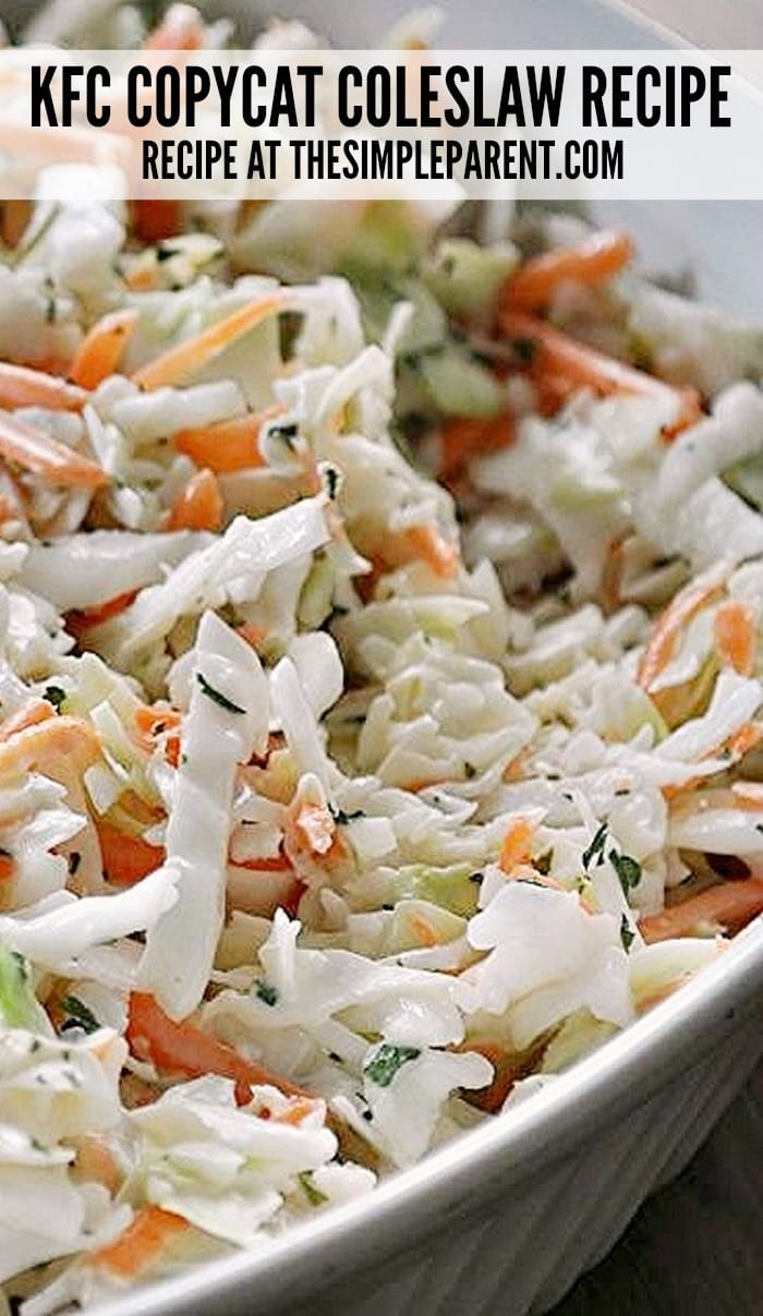 This KFC Copycat Coleslaw Recipe is an easy and delicious to any pot luck or cook out!