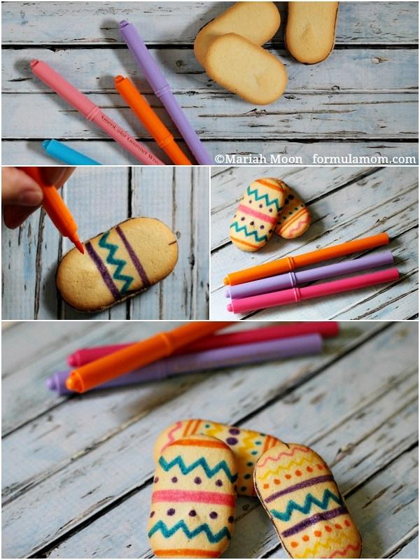 Making Easy Easter Egg Cookies #easter