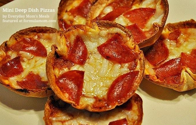 Recipe for Mini Deep Dish Pizzas