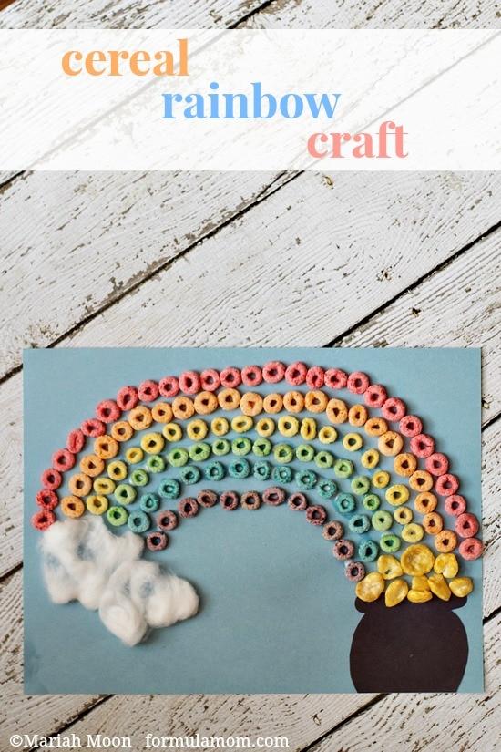 St. Patrick's Day Rainbow Craft #stpatricksday