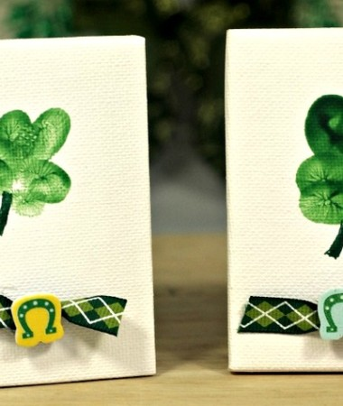 St. Patrick's Day Shamrock Thumbprint Craft #stpatricksday