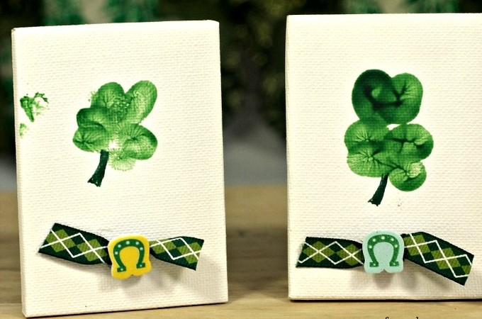 Thumbprint Shamrocks Craft