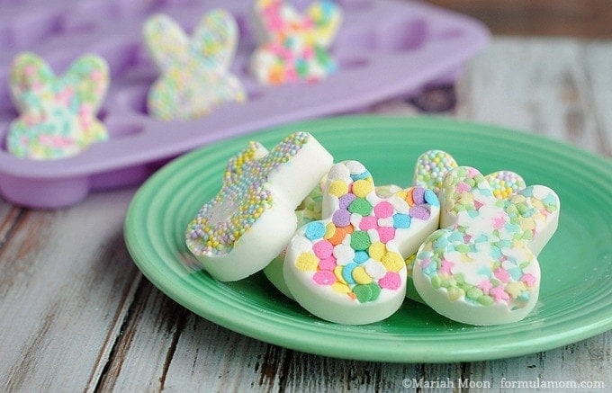 White Chocolate Easter Bunny Candies #easter