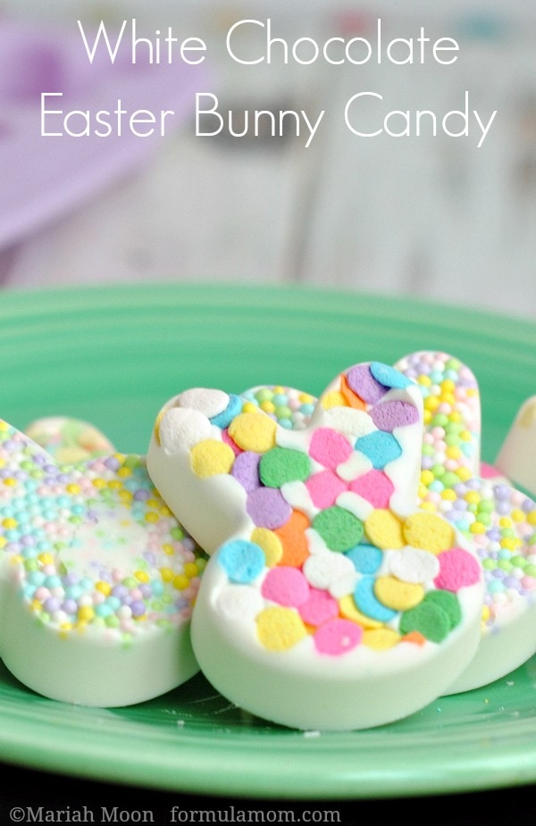 White Chocolate Easter Bunny Candy #easter