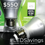 Join the #LEDSavings Twitter Party 4/30