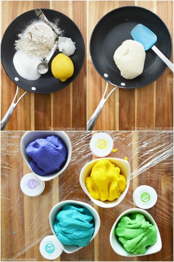Making DIY Play Dough #crafts #messyplay