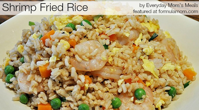 Shrimp Fried Rice Recipe at thesimpleparent.com