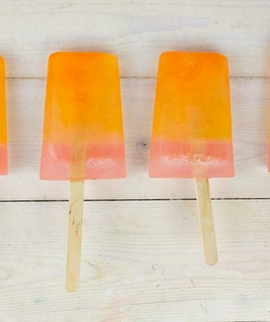 Easy Homemade Popsicles: Orange Pink Lemonade flavored