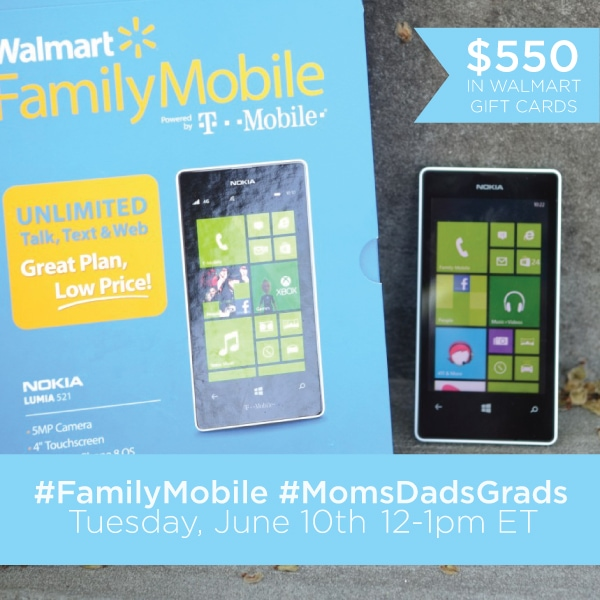 #FamilyMobile #MomsDadsGrads Twitter Party 6-10 #shop