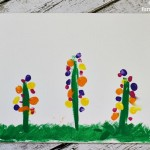 Fingerprint Flowers Craft for Mother's Day