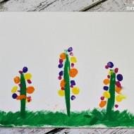 Fingerprint Flowers Craft for Mother's Day
