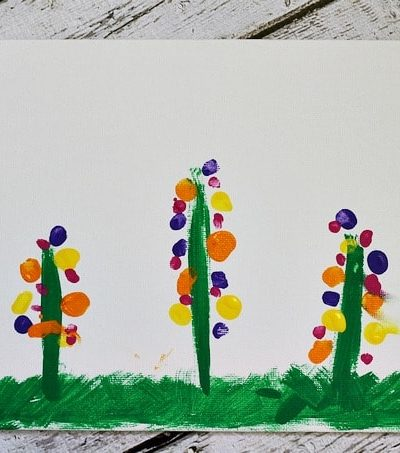 Fingerprint Flowers Craft #mothersday