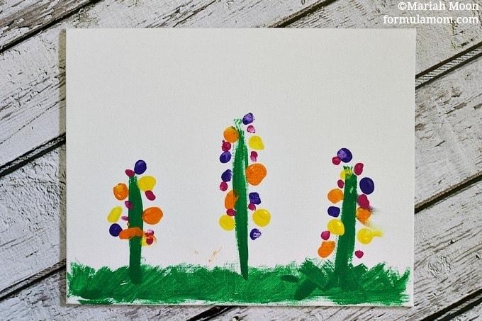 Fingerprint Flowers Craft #mothersday