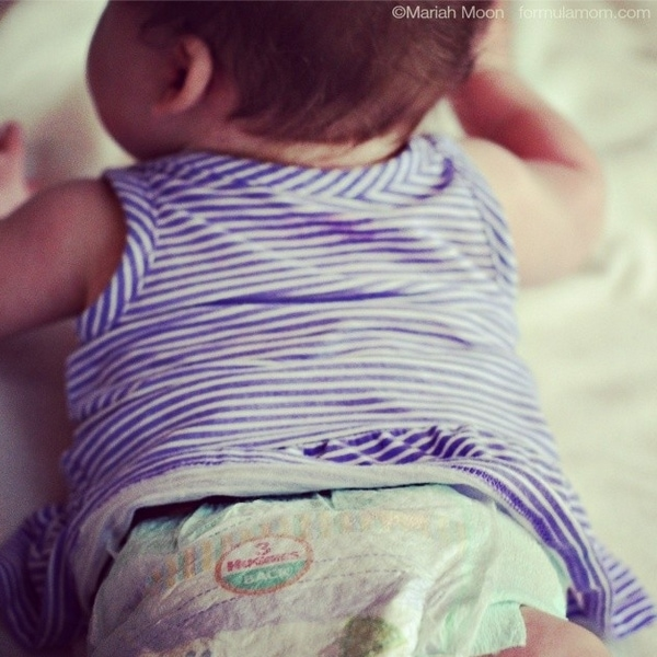 how to change a diaper standing up