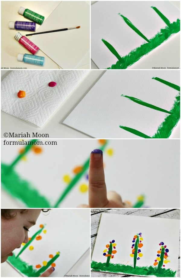 Making Fingerprint Flowers Craft #mothersday