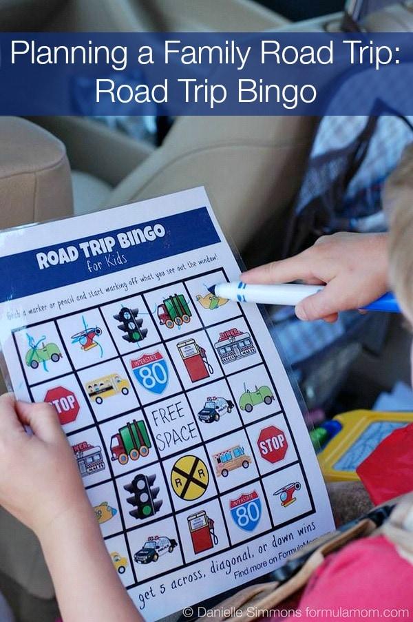 Planning a Family Road Trip: Printable Road Trip Bingo #HPFamilyTime