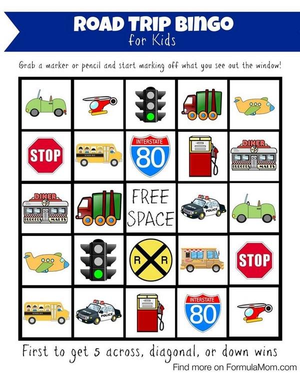 Printable Kids Bingo Game #HPFamilyTime