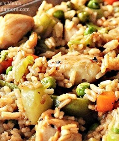 Teriyaki Chicken Casserole Recipe featured at formulamom.com