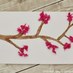 Tissue Paper Cherry Blossom Card for Mother's Day
