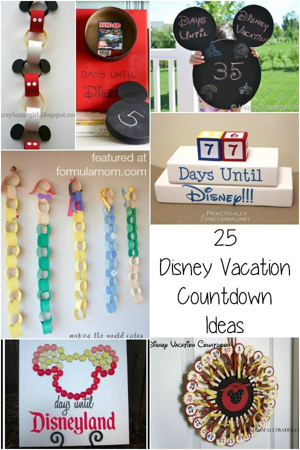 25 Disney Vacation Countdown Ideas #disney