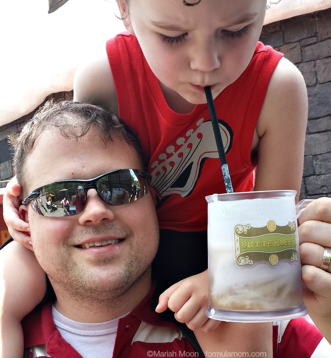Islands of Adventure with Toddlers: Butterbeer is a family favorite! #UniversalOrlando