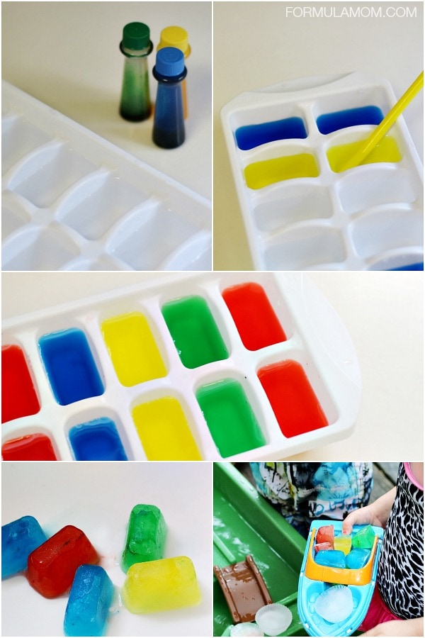 Water Play Ideas: How to Make Colored Ice Cubes #keepkidsbusy