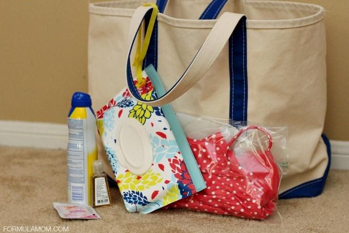 Baby Beach Bag Essentials #sponsored #HuggiesMomStyle