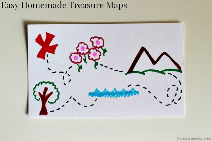 Beat Summer Boredom: Homemade Treasure Maps #summer #keepkidsbusy