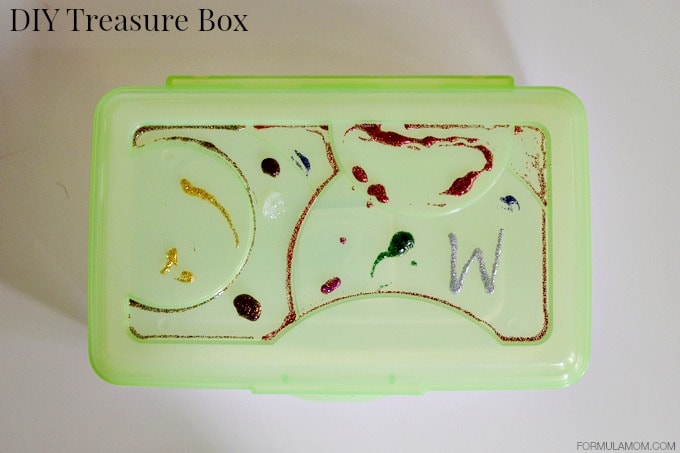 Beat Summer Boredom Simple Crafts: DIY Treasure Box #summer #keepkidsbusy