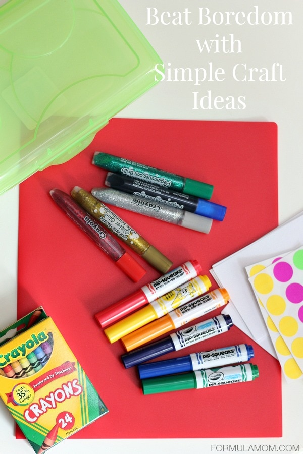 Beat Summer Boredom with Simple Crafts #summer