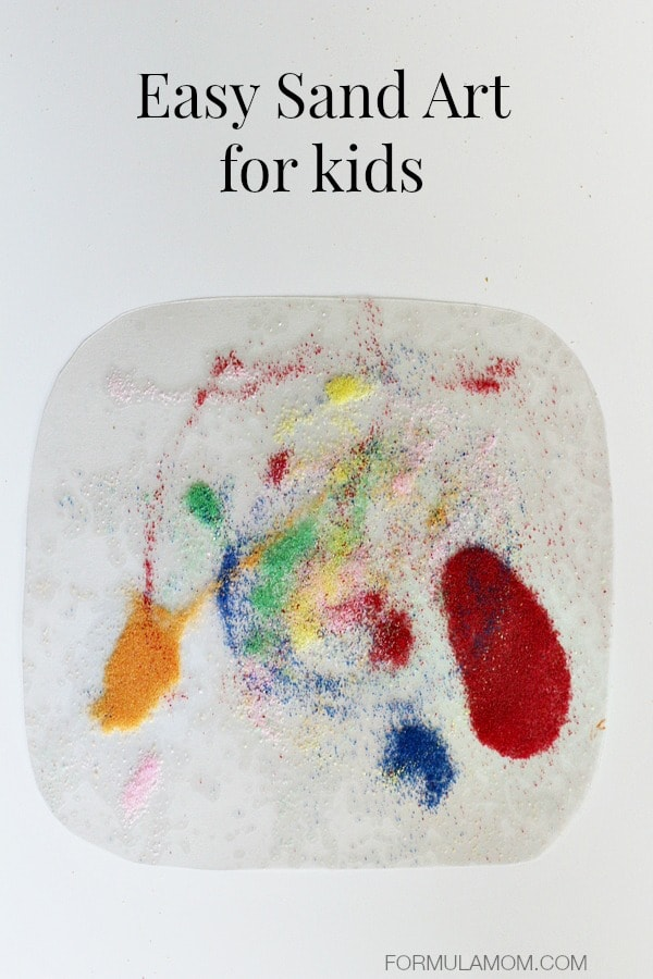 Easy Sand Art for Kids #crafts #keepkidsbusy